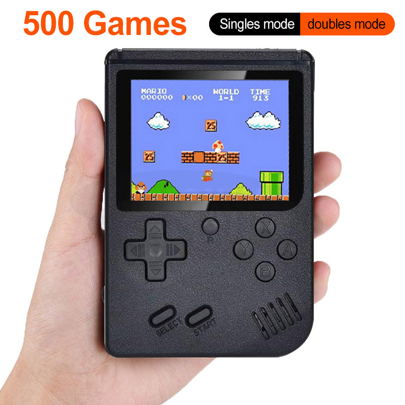 New Built-in 500 Games 800mAh Battery Retro Video Handheld Game Console 3.0 Inch LCD Game Player for Child(China)