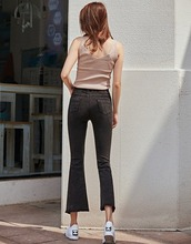 2020 Spring Festival flare pants high stretch wide