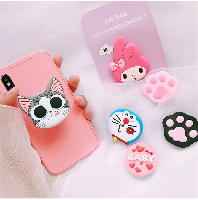 Cute Cartoon Mobile Phone Grip Extension Phone Holder Universal Phone Holder Finger Ring Phone Holder For Iphone  Xiaomi Huawei