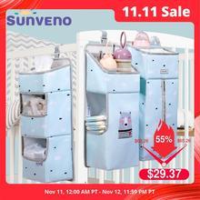 Sunveno органайзер для детской кроватки, подвесная сумка для хранения детской одежды, органайзер для предметов первой необходимости, сумка для подгузников