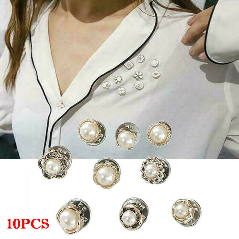 10pcs Prevent Accidental Exposure Of Buttons Brooch Women Clothing Pin Buckle