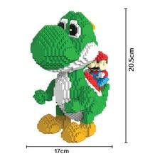 Blocs de construction, modèles de la série Mario Bros Yoshi, juguetes de dessin animé à assembler, Mini brique, jouets éducatifs pour enfants