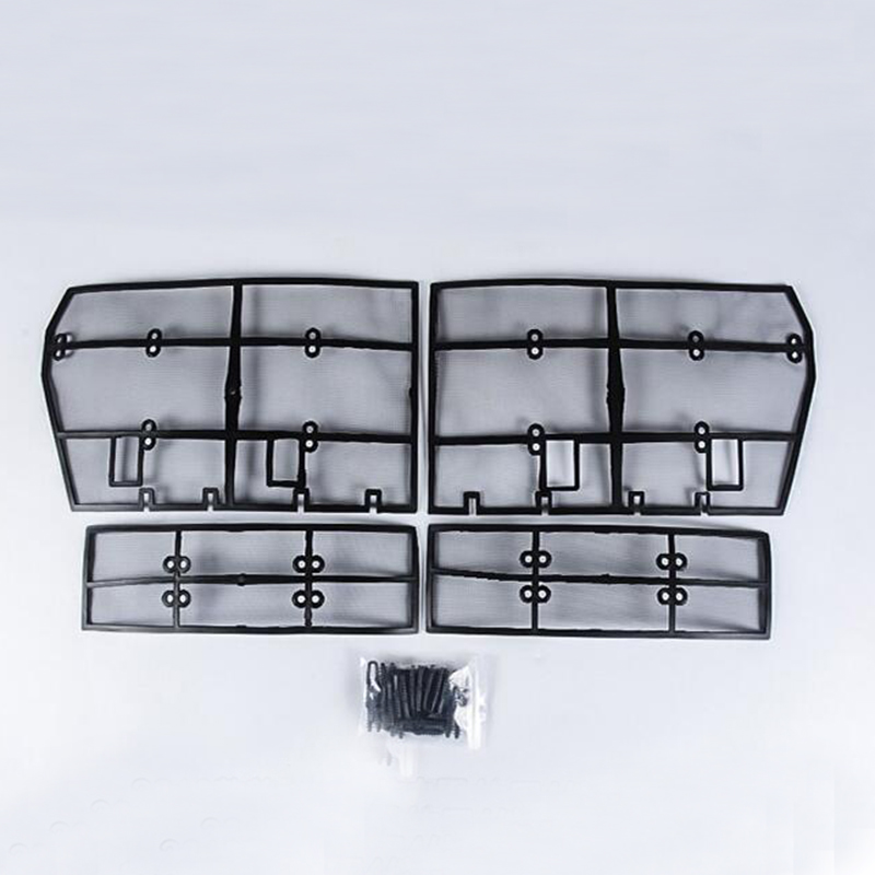 New accessories For <font><b>Toyota</b></font> Land Cruiser Prado FJ <font><b>150</b></font> 2018 Grille Insect Screening Mesh Front Grille Net 4PCS image