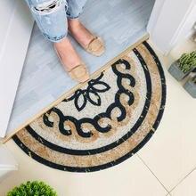 Полукруглый мраморный узор Противоскользящий коврик для двери