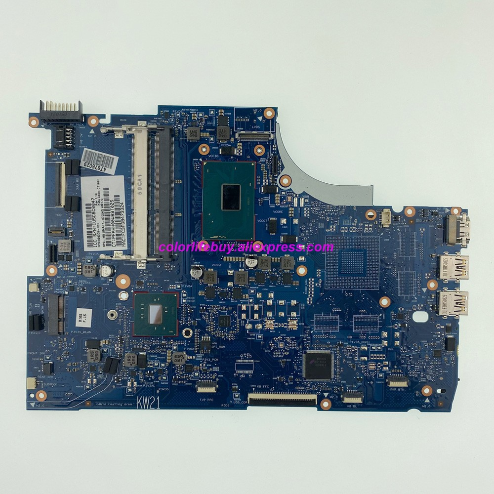 Genuine 829209-001 829209-601 UMA w <font><b>i7</b></font>-<font><b>6700HQ</b></font> <font><b>CPU</b></font> HM170 Laptop Motherboard for HP ENVY 15T-Q400 15-Q420NR 15-Q487NR Notebook PC image