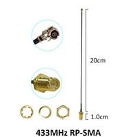 אנטנה 5dbi rp sma 2pcs 433MHz אנטנה 5dbi GSM 433 MHz RP-SMA מחבר גומי Lorawan אנטנה + IPX כדי טבורי SMA זכר הרחבה צמה בכבלים (3)