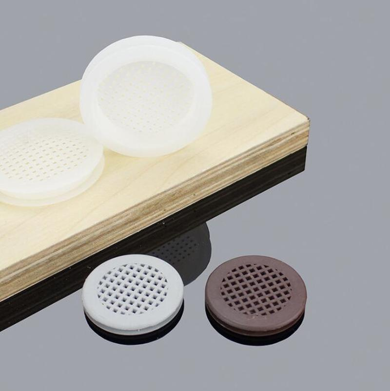 10set Double-sided Plastic Air Vent Covers 58mm Round Mesh Hole Louver Ventilation For Cabinet Shoe Closet Furniture Accessories