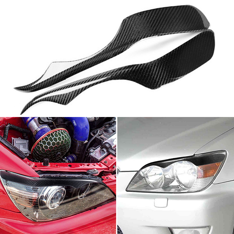Car Headlight Eyebrow Trim 2Pcs UV-resistant For <font><b>Lexus</b></font> IS200 <font><b>IS300</b></font> <font><b>Altezza</b></font> XE10 Replacement image