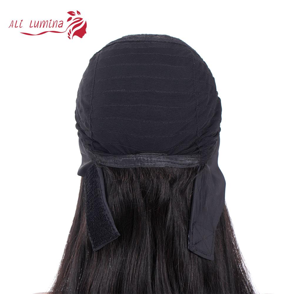 Wigs Full Machine Made Wig 130 150 Density Headband Wig  Hair Straight  Hair Easy Wearing Glueless Wig 4