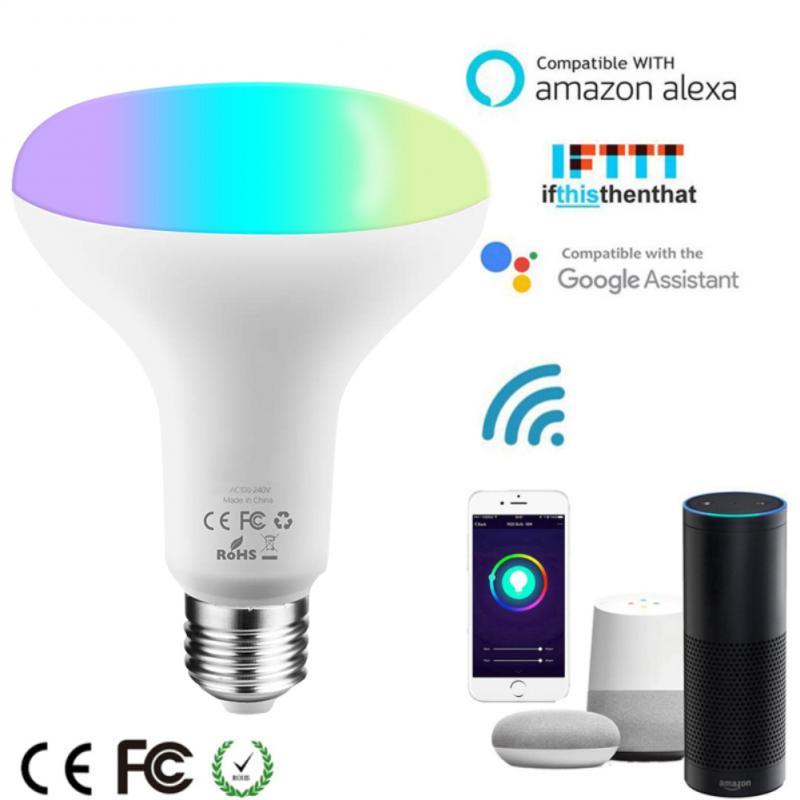 10W Smart WiFi LED Bulb RGB Dimmer Intelligent Light E27/E26/B22 Automation Work With Smart Life Tuya For Alexa Google Home