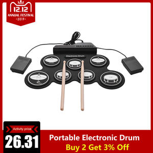 Silicon-Drum-Set Beginners Usb-Roll-Type Digital Children Portable 7