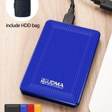 Портативный внешний жесткий диск 2,5 дюйма, USB, внешний диск для ПК, Mac, планшета, телевизора, включает в себя HDD-сумку в подарок