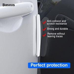 Image 3 - Baseus 4Pcs Car Door Edge Protector Strip Anti Collision Plating Baking Finish Rubber Bumper Molding Side Sticker Car Styling