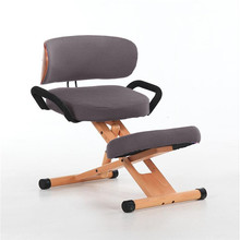 Height Adjustable Ergonomic Kneeling Chair with Back and Han