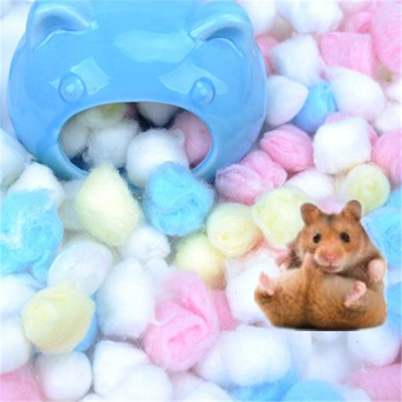 1 Bag Colorful Winter Keep Warm Cotton Ball Cute Cage House Filler Supply For Hamster Rat Mouse Small Animals Supplies