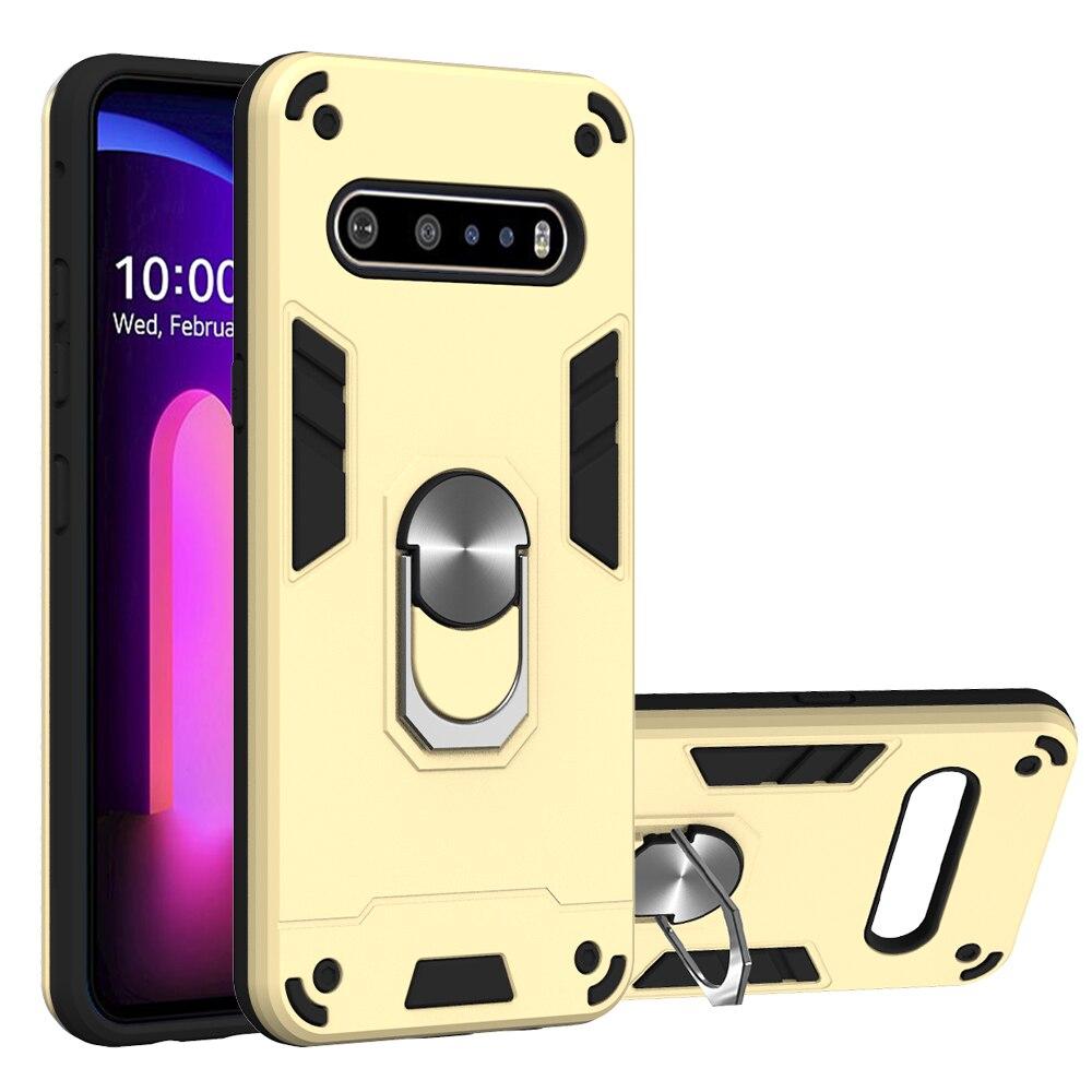 Shockproof Armor Finger Magnetic Ring Holder Anti-Fall Case For LG K31 K51 Q51 V60 Thinq 5G K40 K50 K30 2019 G8X V50S Case Cover