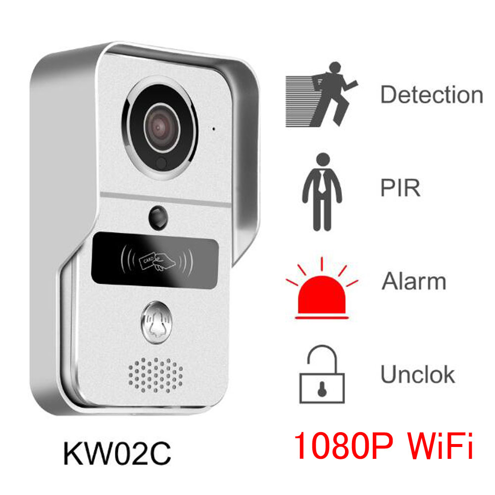 Wireless WiFi Smart IP Video Door Phone Intercom System With 1080P Doorbell Camera,Support Remote Unlock And Up To 10 Guest User