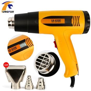 2000W Heat Gun Hot Air Thermoregulator Professional LCD Display Soldering Hair Dryer Construction Power Tool 220V EU