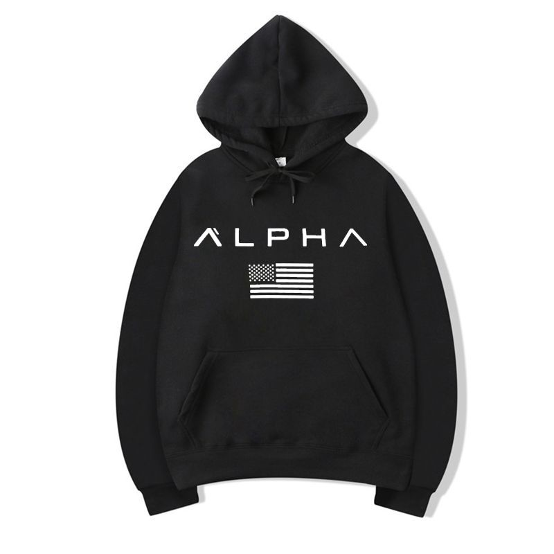 Autumn New Arrival High Alpha Industries Printed Sportswear Men Sweatshirt Hip-Hop Male Hooded Hoodies Pullover Hoody Clothing