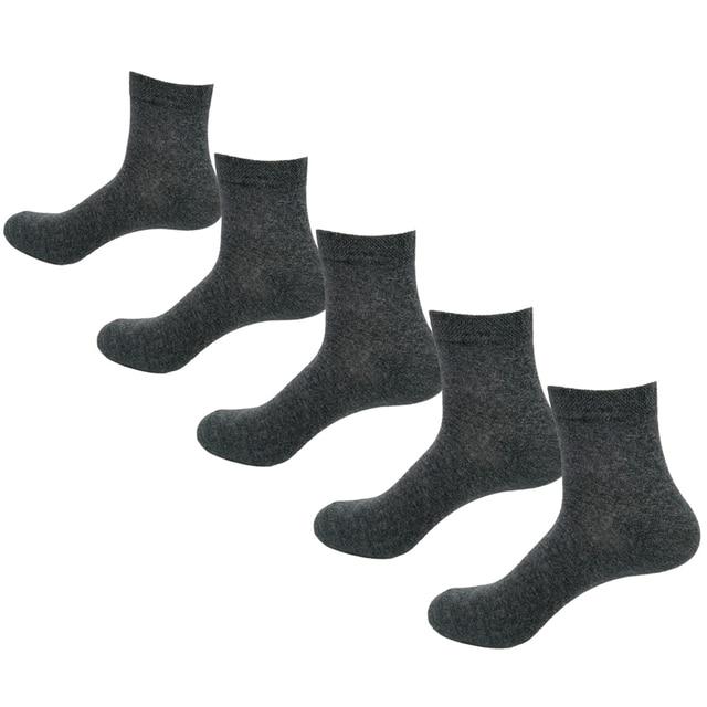 Men Socks Cotton Comfortable 5 Pairs/Set Boys Breathable Antibacterial Dropshipping