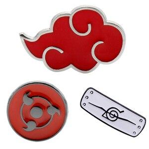 Наруто Konohagakurenosato брошь, эмалированный штифт Akatsuki Red Cloud значки Броши Булавки для женщин и мужчин отворот булавка ювелирные изделия подарок