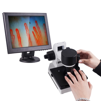 CE approved &OEM biological microscope/ 12 inch big screen blood capillary microscopes