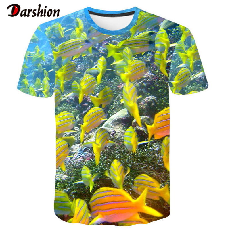 Summer 3D Printed Tee Cool Men 3D Fish T-Shirt Hobby Carp 3D Tshirt Outfits Men Cute Top Hipster Shirts Oversize O-neck Top Tees