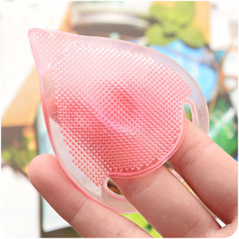 Hot Professional Face Wash Skin Care Beauty With Magic Silicone Oval Blackhead Remover On Face Brush Cleaning Pad Random Colors