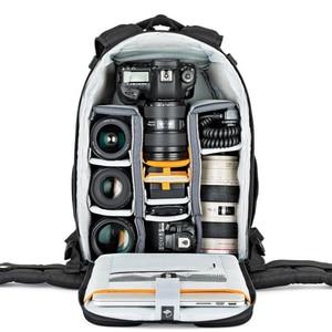 Image 5 - شحن سريع من Gopro حقيقية Lowepro فليبسايد 400 AW F400 II كاميرا صور حقيبة الظهر الرقمية SLR + جميع غطاء الطقس بالجملة