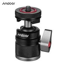 Andoer 2 In 1 Mini Koude Shoe Balhoofd Dual Gebruik Met 1/4 Schroef Koude Schoen Mount 360 ° Swivel voor Camera Telefoon Houder Speedlite