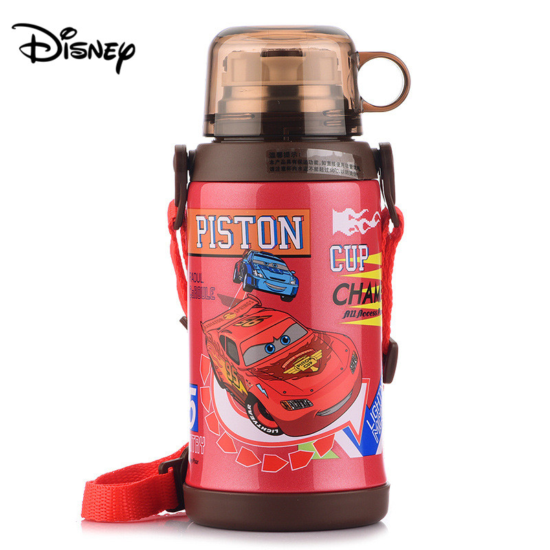 Disney 600 ml insulated cup with straw drop proof dual use stainless steel cup children's fashion insulation cup|Cups|   - title=