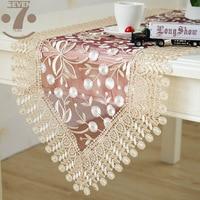 O envio gratuito de jantar banquete mesa de café decorativo bordado borgonha cor corredor de mesa|Caminhos de mesa| |  -