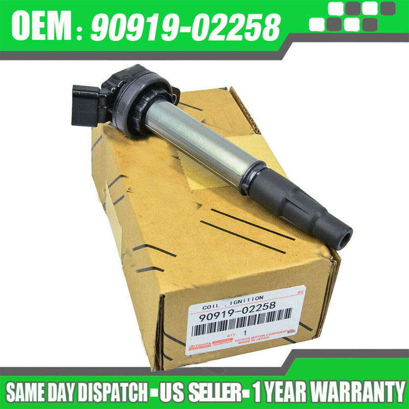 90919-02258 UF-596 C1714 UF-619 Ignition Coil For Toyota Corolla Matrix Prius Scion xD 1.8 RAV4 90919 02258 <font><b>9091902258</b></font> with box image