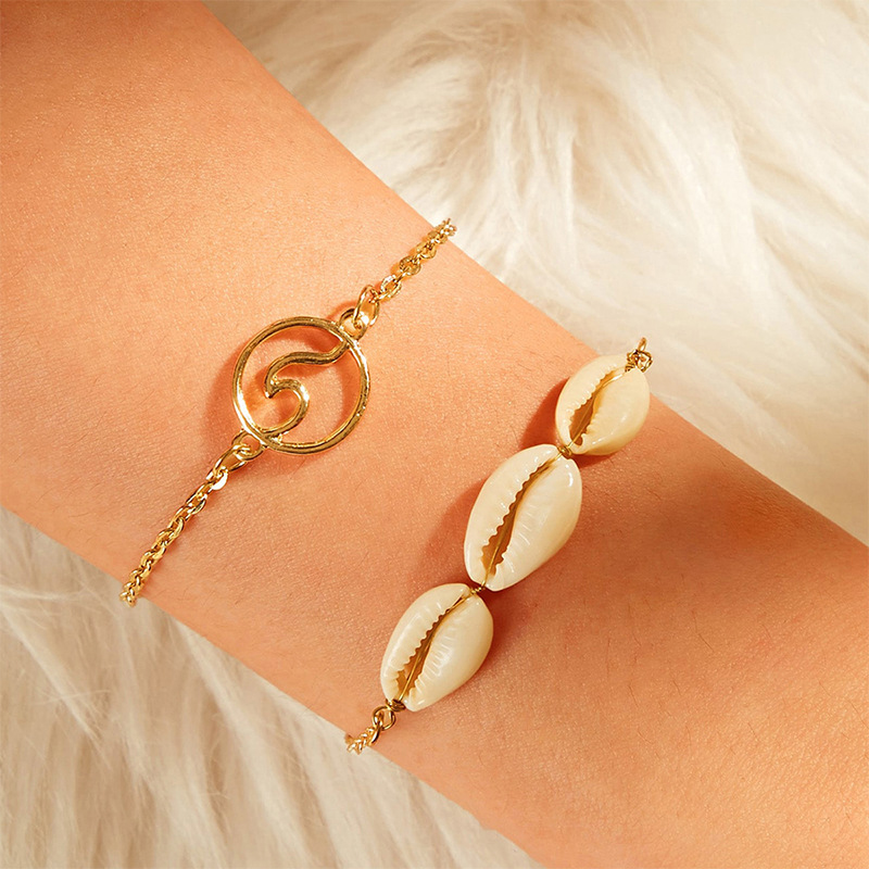Boho Beach Natural Shell Cowrie Anklets Set For Women 2020 Ocean Wave Anklet Bracelets On The Leg Bohemian Foot Jewelry Gift