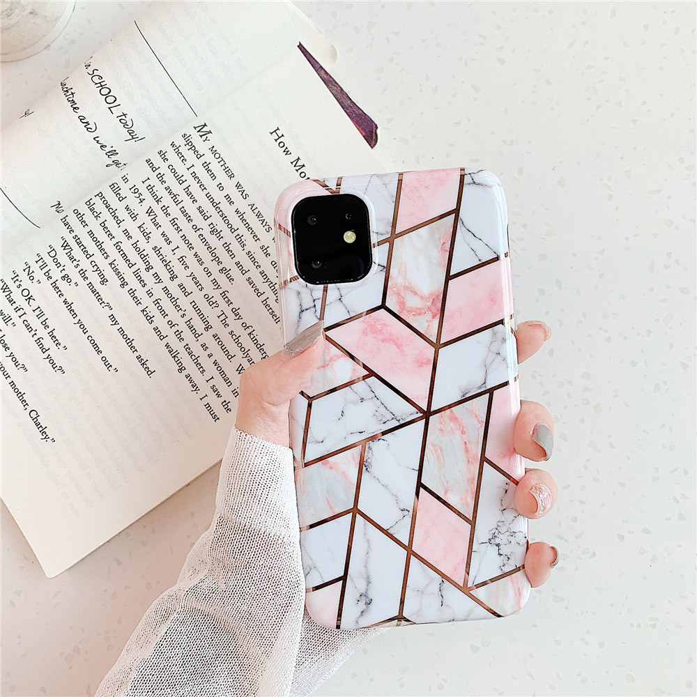 Marble Plating Case for iPhone SE (2020) 27