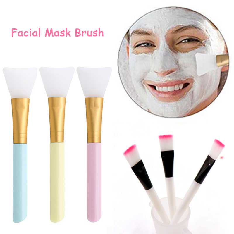 Facial Mask Brush Professional Makeup Brushes Soft Silicone DIY Mud Mixing Skin Care Beauty Make Up Brushes For Women Girls