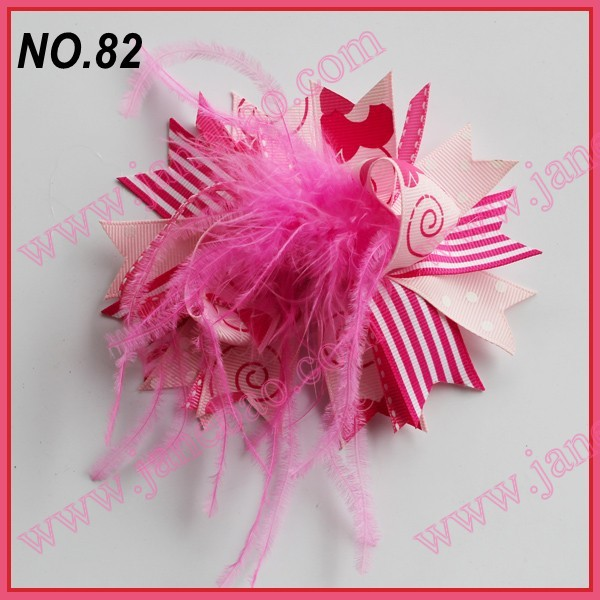 80 шт перо волосы банты девушка забавные, для волос банты, бутик девушка волосы банты