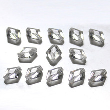Shangquan Crystal Flat Button Beads 12x10mm Glass For Jewelry Making Accessories Wholesale
