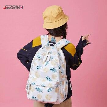 girls backpack white lemon…