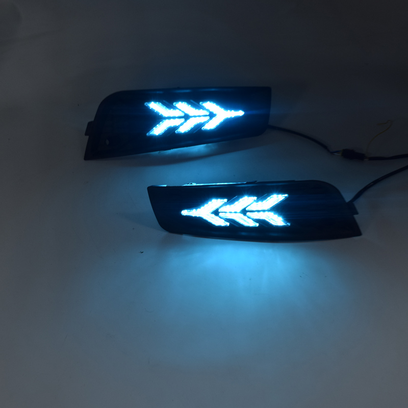 1 Pair 3-Color Car LED Daytime <font><b>Running</b></font> <font><b>Light</b></font> Turn Signal Lamp DRL Fit for <font><b>Chevrolet</b></font> <font><b>Cruze</b></font> 2009 2010 <font><b>2011</b></font> 2012 2013 2014 image