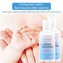 цена на 55ml Anti-bacterial Refreshing Liquid Hand Soap Disposable Hand Sanitizer Gel For Adults Children