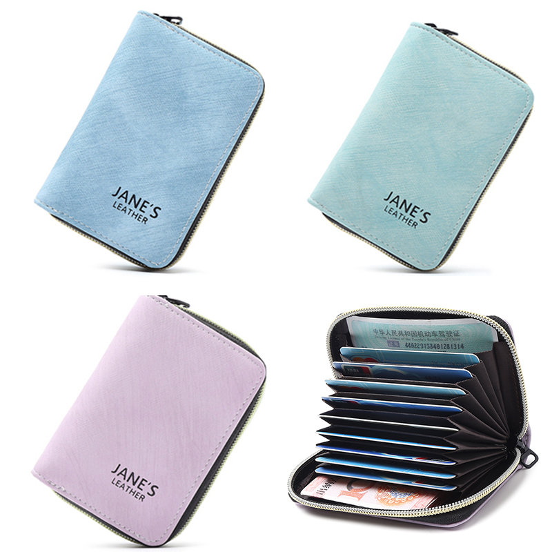 APP BLOG Women Men Credit ID Card Holder Case Extendable Business Bank Cards Bag Small Wallet Coin Purse Carteira Mujer Male