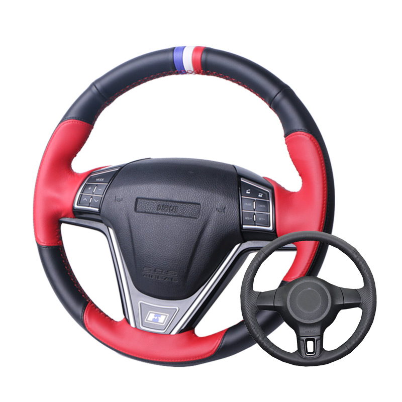Artificial Car Steering Wheel Cover Leather For Volkswagen Golf 6 Mk6 VW Polo MK5 2010-2013 image