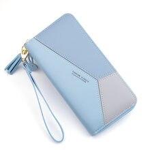 Bolsa de bolso de bolso de bolso de bolso de bolso de bolso de bolso de bolso de mulheres de retalhos de carteira longa senhora borla curto