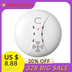 433mhz bezprzewodowy czujnik dymu czujnik dymu dla WIFI/PSTN/domowy system alarmowy gsm lub praca samodzielnie w Detektor dymu od Bezpieczeństwo i ochrona na