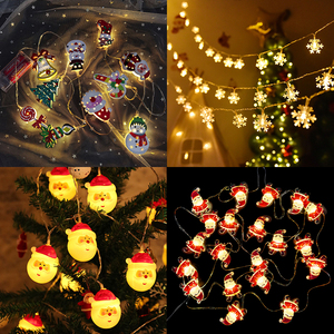 1.5m 10Led Christmas Tree Santa Claus Snowman Snowflake Led Light String Festival Bar Home Party Decor Christmas Ornament