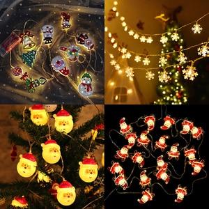 1.5m 10Led Christmas Tree Santa Claus Snowman Snowflake Led Light String Festival Bar Home Party Decor Christmas Ornament
