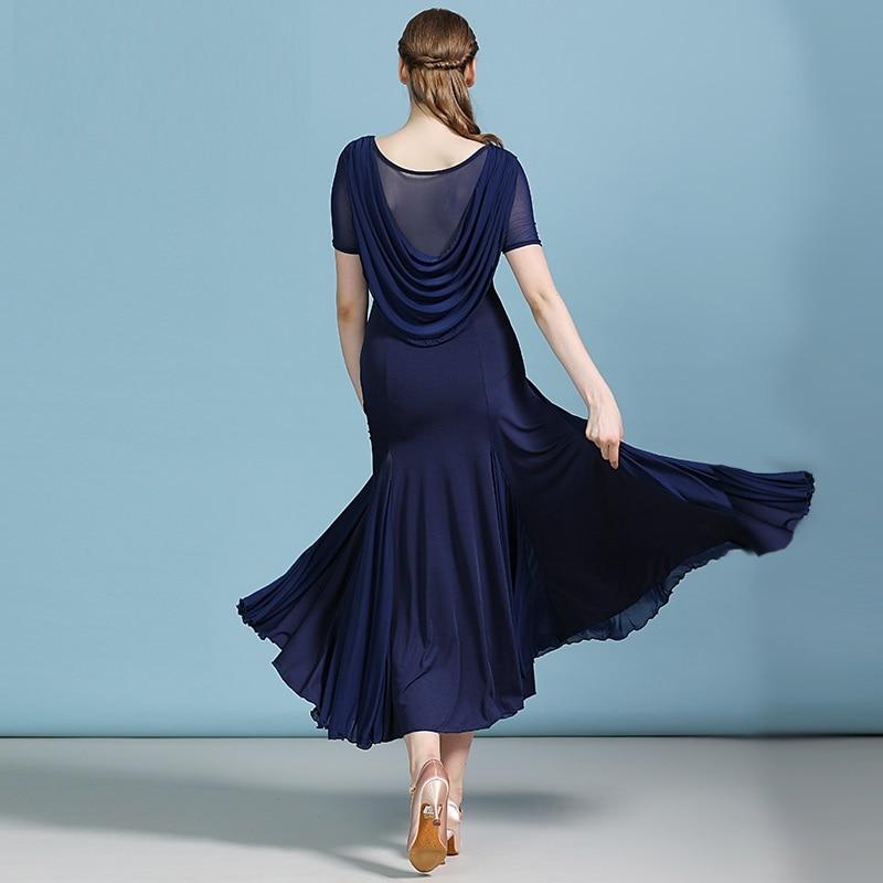 Cheap Ballroom Dresses Latin Ballroom Rumba Dresses Modern Dance Costumes Foxtrot Dance Dress Women Tango Costume Waltz Dress