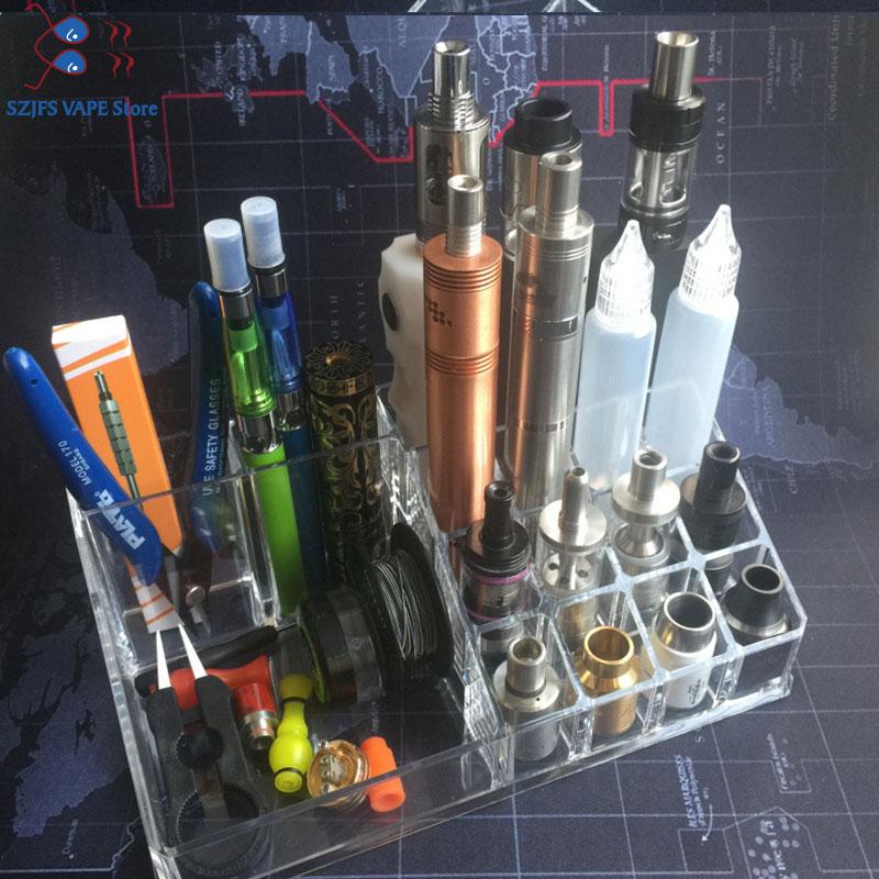Electronic Cigarettes Storage Rack Display Stand Holder Base For E-liquid Mods E Cigarette Organizer Storage BoxReceive Case