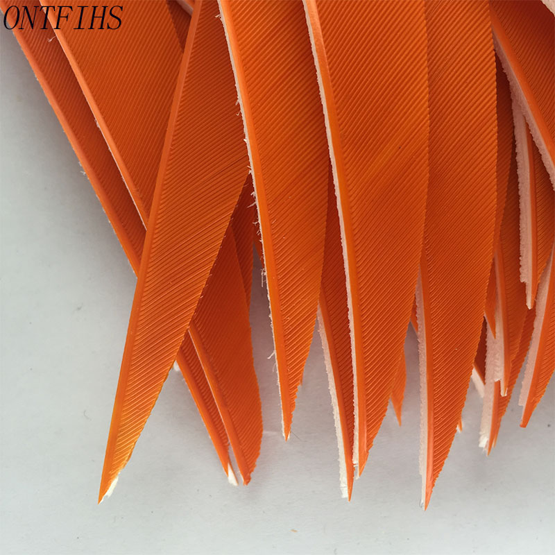 36 Pcs ONTFIHS 5 Inch Shield Cut Feather Hunting Shooting Cut Arrow Fletching Archery Accessories in Bow Arrow from Sports Entertainment